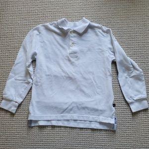 E-LAND white long sleeve polo size 5